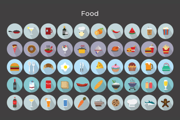 Print on Demand: Foods Vector Icons Graphic Icons By jumboicons - Image 5