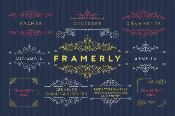 Print on Demand: Framerly Dingbats Font By Kelik - 7NTypes - Image 1