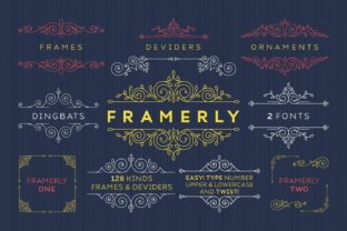 Print on Demand: Framerly Dingbats Font By Kelik - 7NTypes