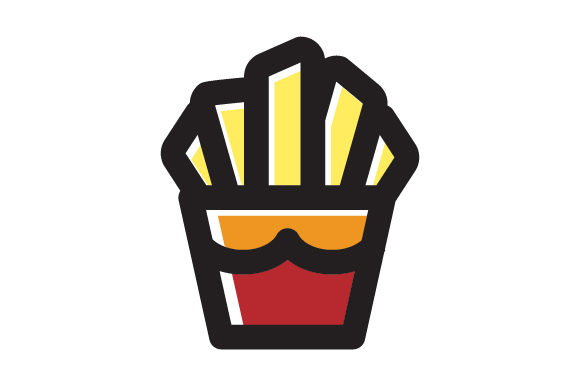 French Fries Food Line Icon Logo Design Graphic By Graphicrun123