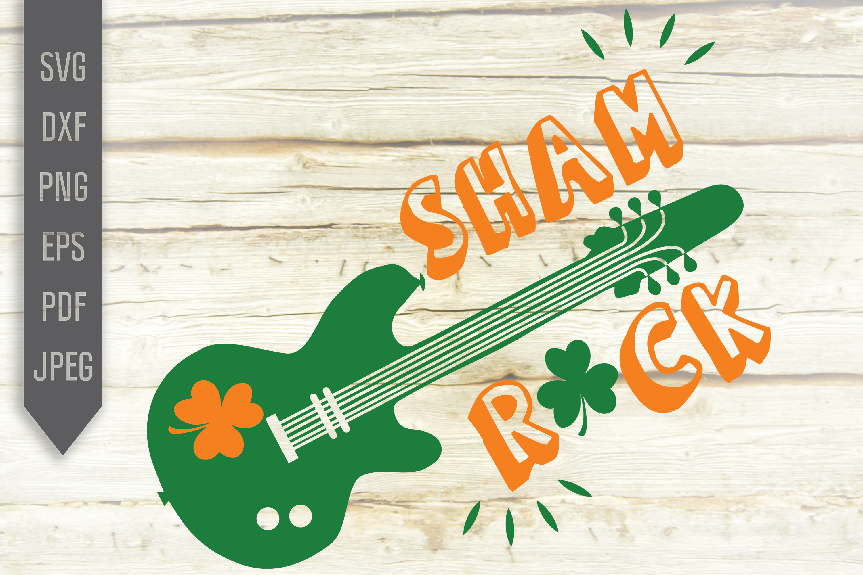 Download Free Guitar St Patrick S Graphic By Svglaboratory Creative Fabrica for Cricut Explore, Silhouette and other cutting machines.