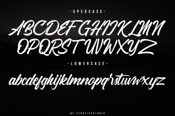 Hattachy  Modern Handlettering Font Preview