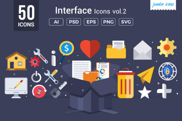 Print on Demand: Interface Vector Icons Graphic Icons By jumboicons