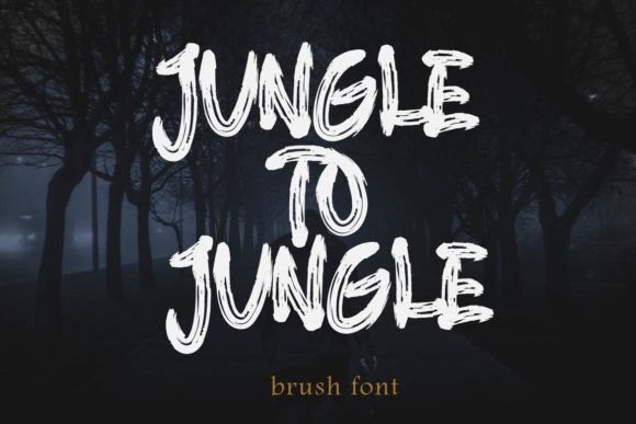 Print on Demand: Jungle to Jungle Blackletter Font By aminmario - Image 1