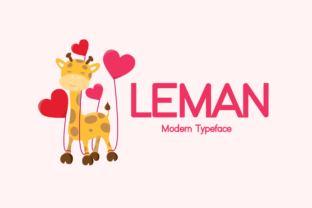 Print on Demand: Leman Display Font By Instagram Fonts