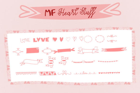 Print on Demand: MF Heart Stuff Dingbats Font By Misti