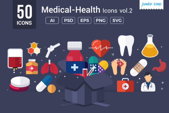 Print on Demand: Medical / Health Vector Icons Graphic Icons By jumboicons - Image 1