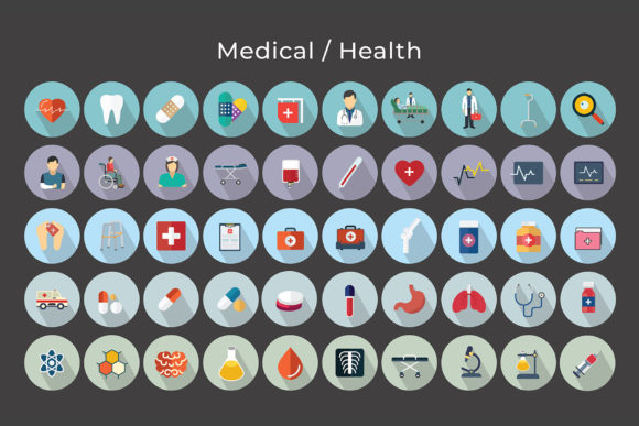 Print on Demand: Medical / Health Vector Icons Graphic Icons By jumboicons - Image 5