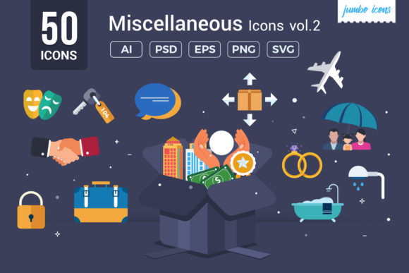 Print on Demand: Miscellaneous Vector Icons Graphic Icons By jumboicons
