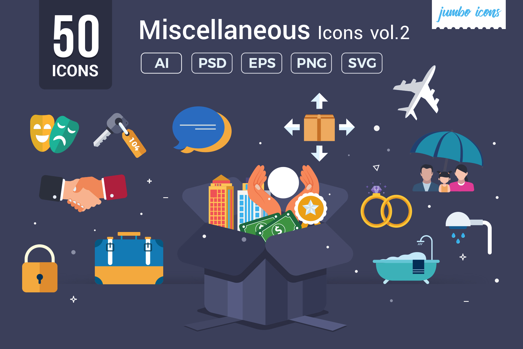 Download Free Miscellaneous Vector Icons Graphic By Jumboicons Creative Fabrica for Cricut Explore, Silhouette and other cutting machines.