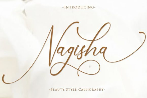 Print on Demand: Nagisha Script & Handwritten Font By Gilar Studio