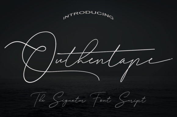 Print on Demand: Outhentape Script & Handwritten Font By faisal_Alfaraby
