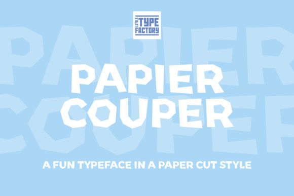 Print on Demand: Papier Couper Display Font By Little Type Factory