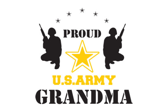 Download Free Proud Us Army Grandma Graphic By Grappix Studio Creative Fabrica for Cricut Explore, Silhouette and other cutting machines.