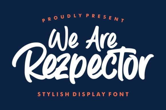 Print on Demand: Rezpector Display Font By Garisman Studio