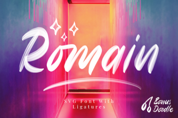 Print on Demand: Romain Script & Handwritten Font By Rillatype