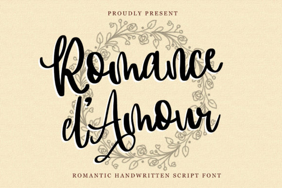 Print on Demand: Romance D'Amour Script & Handwritten Font By dmletter31