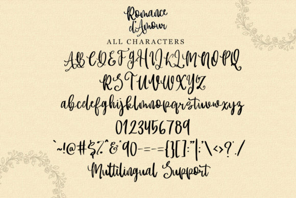 Print on Demand: Romance D'Amour Script & Handwritten Font By dmletter31 - Image 9