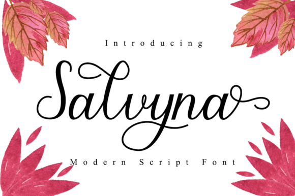 Print on Demand: Salvyna Script & Handwritten Font By Manjalistudio