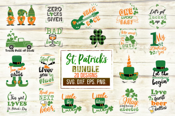 Print on Demand: St. Patrick's Day Gráfico Crafts Por SVGlaboratory