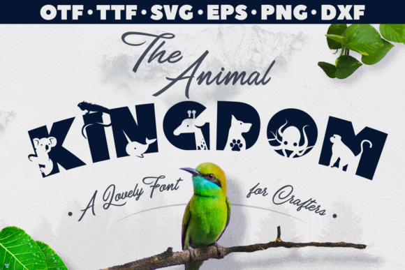 Print on Demand: The Animal Kingdom Display Font By Anastasia Feya