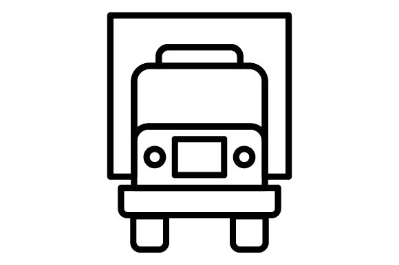 Download Free Truck Container Transportation Line Icon Graphic By for Cricut Explore, Silhouette and other cutting machines.