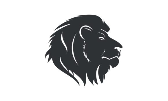 Download Free Wild Lion Head Logo Template Design Graphic By Deemka Studio for Cricut Explore, Silhouette and other cutting machines.