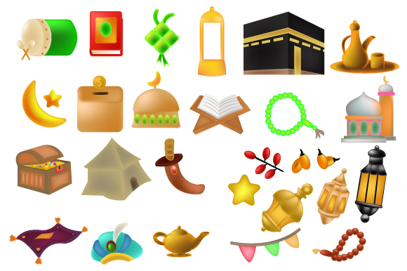 Download Free Arabian Icons Full Color Vector Symbols Graphic By Iop Micro for Cricut Explore, Silhouette and other cutting machines.