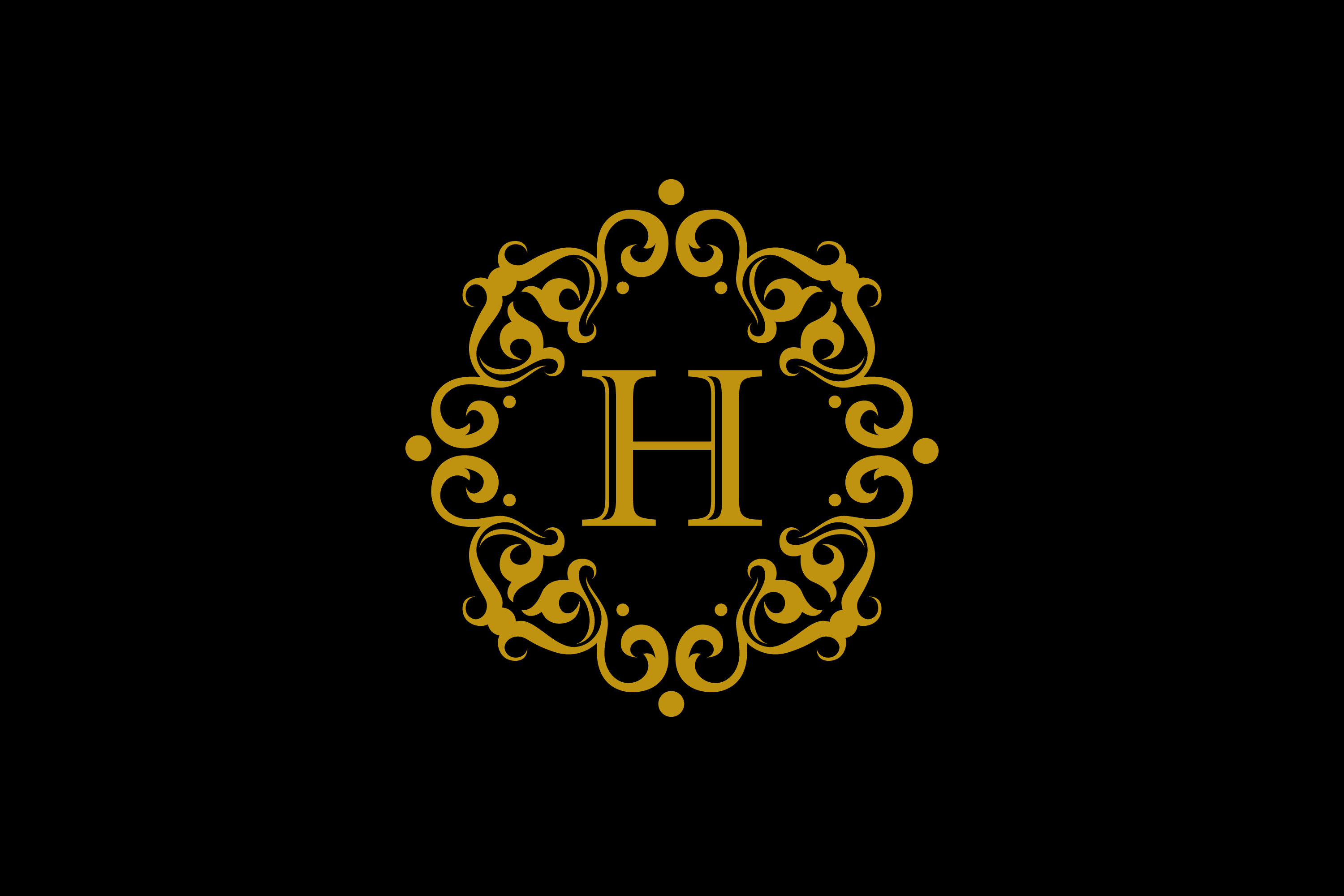 Download Free H Letter Gold Emblem Graphic By Noory Shopper Creative Fabrica for Cricut Explore, Silhouette and other cutting machines.