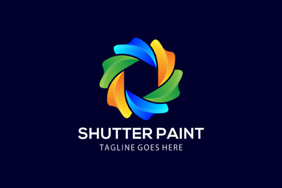 Download Free Logo Shutter Paint Graphic By Noory Shopper Creative Fabrica SVG Cut Files