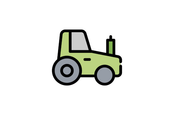 Download Free Tractor Icon Graphic By Wirawizinda097 Creative Fabrica for Cricut Explore, Silhouette and other cutting machines.