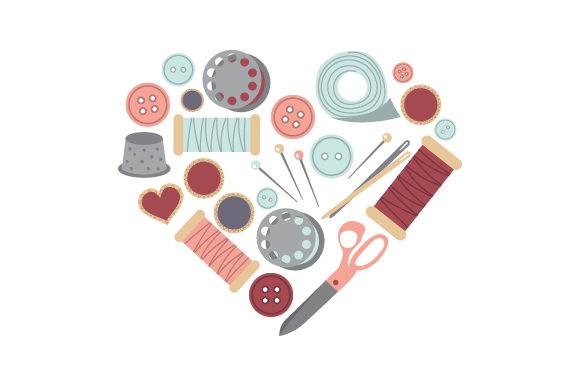 Sewing Supplies Heart Hobbies Craft Cut File By Creative Fabrica Crafts