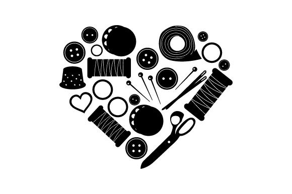 Sewing Supplies Heart Hobbies Craft Cut File By Creative Fabrica Crafts - Image 2