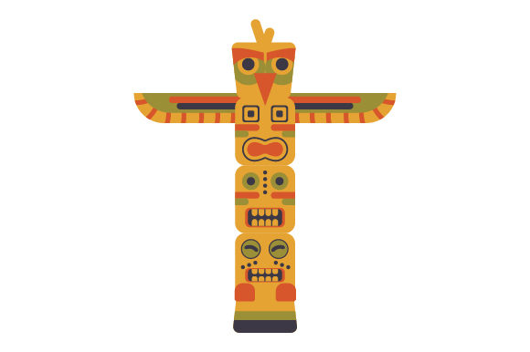 Totem Pole Designs & Zeichnungen Plotterdatei von Creative Fabrica Crafts