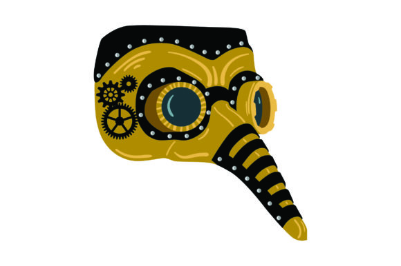 Steampunk-Maske Steampunk Plotterdatei von Creative Fabrica Crafts