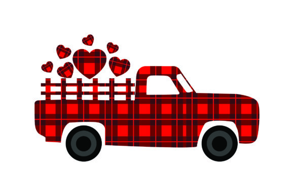 Valentine's Truck Valentine's Day Craft Cut File By Creative Fabrica Crafts