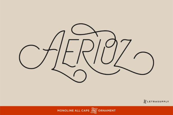 Print on Demand: Aerioz Display Font By letrasupply