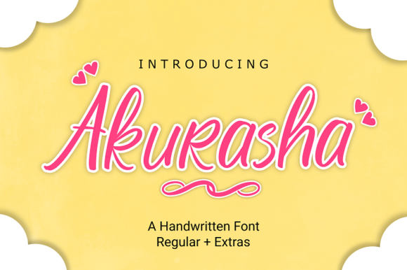 Print on Demand: Akurasha Script & Handwritten Font By Rvandtype