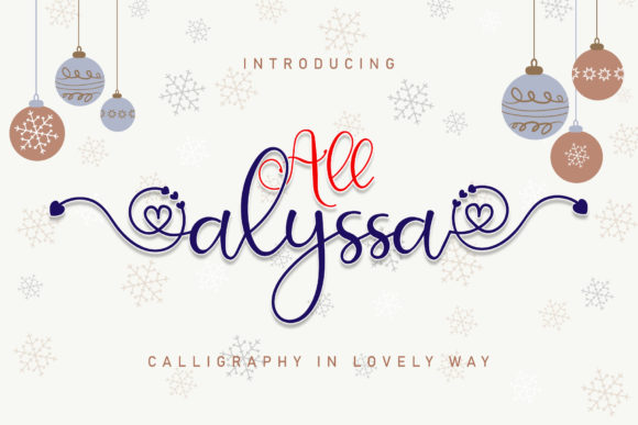 Print on Demand: All Alyssa Script & Handwritten Font By airotype