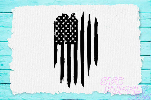 Print on Demand: American Flag Distress Graphic Crafts By svgsupply - Image 1