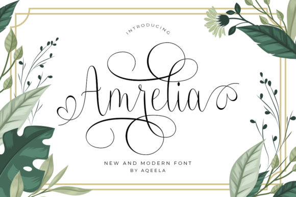 Print on Demand: Amrelia Script & Handwritten Font By Aqeela Studio