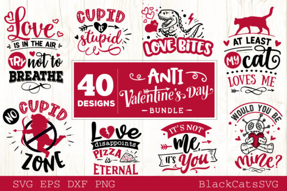 Anti Valentine's Day Bundle  Graphic Crafts By BlackCatsMedia