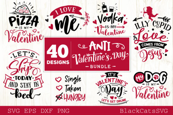 Download Free Anti Valentines Day Svg Grafik Von Blackcatsmedia Creative Fabrica for Cricut Explore, Silhouette and other cutting machines.