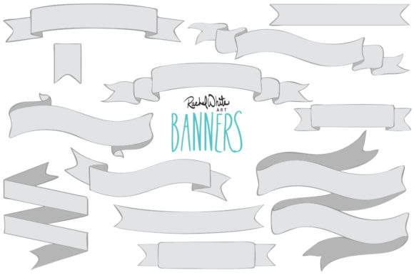 Banners Graphic Objects By rachelwhiteart