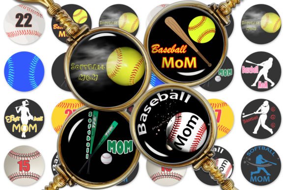 Baseball Digital Collage Sheet Graphic Crafts By denysdigitalshop