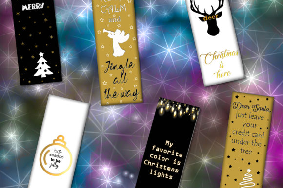 Download Free Bookmarks Christmas Christmas Graphic By Denysdigitalshop for Cricut Explore, Silhouette and other cutting machines.