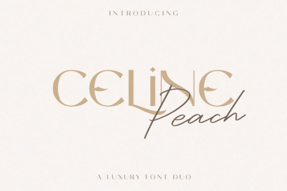 Print on Demand: Celine Peach Display Font By craftsupplyco