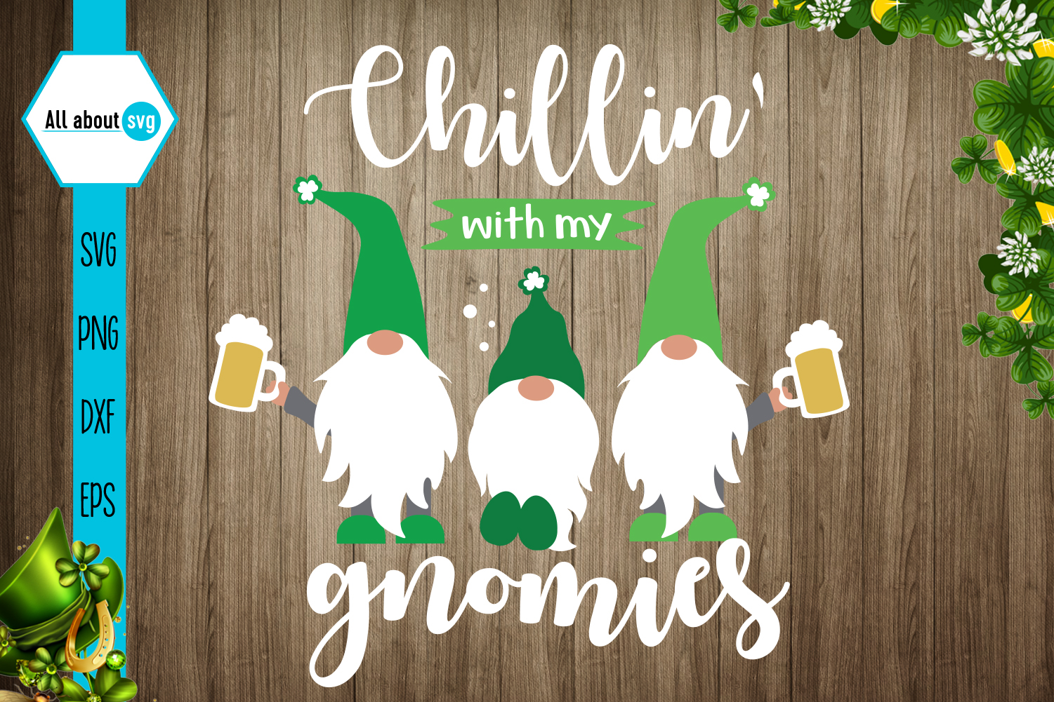 Download Free Chillin With My Gnomies Graphic By All About Svg Creative Fabrica for Cricut Explore, Silhouette and other cutting machines.