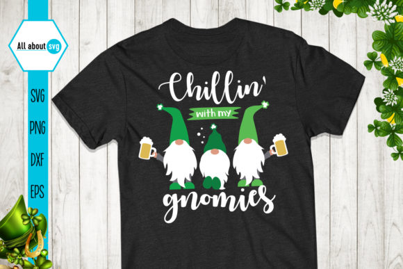 Chillin' with My Gnomies Graphic Crafts By All About Svg - Image 2