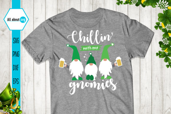 Chillin' with My Gnomies Graphic Crafts By All About Svg - Image 3
